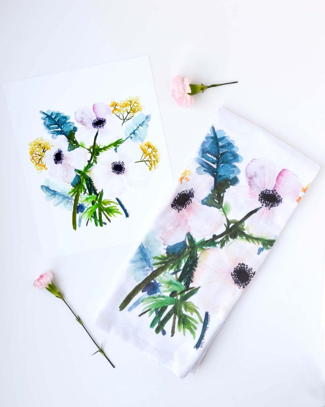 Anemonie Tea Towel
