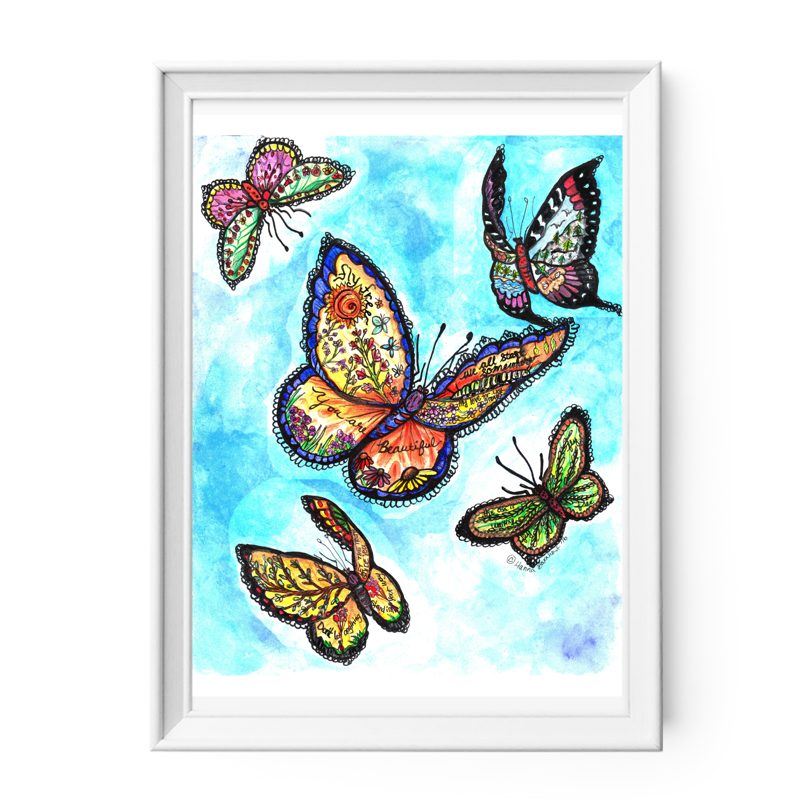 Watercolor Butterfly Print